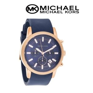 Michael Kors MK8410 Scout Navy Blue Silicone watch